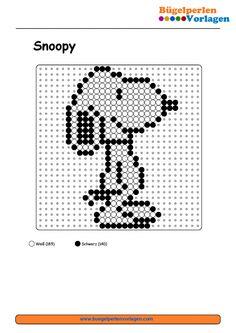 Snoopy Bügelperlen Vorlage