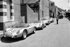 1960 Porsche Le Mans Team included three 718 RS 60 models and the 356 B 1600 GS Carrera Abarth GTL Le Mans, Porsche 911 Rsr, Porsche Sports Car, Porsche Cars, My Dream Car, Dream Cars, Sport Cars, Race Cars, Nascar