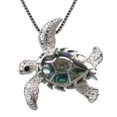 AWE! This is the first time I've seen a sea turtle necklace like this. Great perspective for this animal.