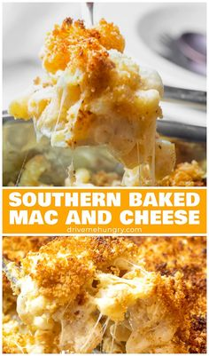 Southern Baked Mac and Cheese with Breadcrumbs - - Southern baked mac and cheese with a crunchy, golden brown breadcrumb topping! Made with gruyere and white cheddar cheese. Creamy, cheesy, and comforting! Mac And Cheese Rezept, Bake Mac And Cheese, Creamy Mac And Cheese, Mac N Cheese Casserole, Cheese Pasta Bake, Crockpot Mac And Cheese, Homemade Mac And Cheese Recipe Baked, Best Mac N Cheese Recipe, Mac Cheese Recipes