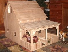 Popsicle Stick Barn - Google Search