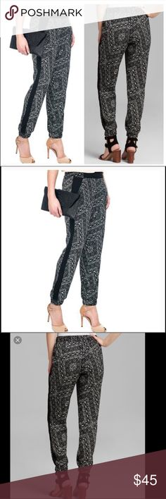 "NYDJ Printed jogger pant NWT. Fun, trendy print. These on-trend pants feature Lift Tuck Technology that allows you to look and feel a size smaller. Perfect pant for Fall! (Solid black available in separate listing!!!) Measurements for the waist: Small (15"") with an approximate 27"" inseam. Dress these up or down! NYDJ Pants Track Pants & Joggers"
