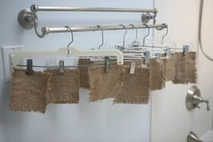 First, make burlap pieces stiff by soaking them in a starch solution of your ...