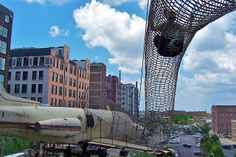 How about an outing that is soooo much fun you don't think you are actually doing exercise.  It's MONSTROCITY in St. Louis, Mo. Like a slinky on steroids with an adventure as well.