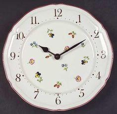Villeroy & Boch Petite Fleur Clock Plate, Fine China Dinnerware by Villeroy & Boch, http://www.amazon.com/dp/B004V9XMJC/ref=cm_sw_r_pi_dp_aneprb0SBG136