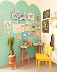 Home office decor ideas that will amazing inspirations 56 ⋆ Main Dekor Network Home Office Design, Home Office Decor, Unique Home Decor, Diy Home Decor, House Design, Colourful Living Room, Colourful Bedroom, Home And Deco, Home Decor Inspiration