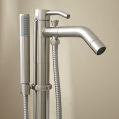 Caol Freestanding Tub Faucet with Hand Shower- $439