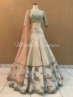 MischB Couture. Bridal Bouquet collection Indian Wedding Gowns, Indian Gowns Dresses, Indian Bridal Outfits, Indian Party Wear, Pakistani Bridal Dresses, Indian Designer Outfits, Designer Dresses, Punjabi Wedding, Indian Weddings