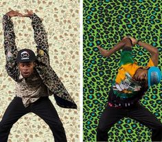 Mishka (Fall 2013) Backgrounds that play off of apparel pattern