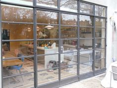 Lightfoot Windows (Kent) Ltd using Crittall Steel Doors onto the garden Industrial Windows, Industrial Bathroom, Industrial House, Industrial Interiors, Industrial Closet, Industrial Apartment, Industrial Shelving, Industrial Office, Industrial Farmhouse