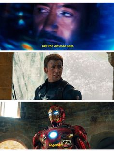 "Such a parallel to the first Avengers film where Tony finally wisens up and listens to Cap by saying, ""Call it Captain!"""