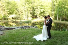 Romantic setting by the pond. #weddingphotography #lehighvalley #berkscounty #centralpa #poconos #romantic #celebrationspa www.celebrationsdjphoto.com