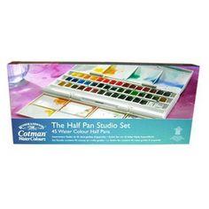 Buy Cotman Watercolour Half Pan Studio Set at The Range