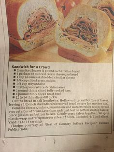 Sandwich for a Crowd
