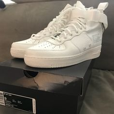 newest collection dd6c2 469e2 Nike Shoes   Nike Air Force 1 Mid Sf   Color  White   Size