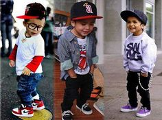 I don't really like kids but the one in the middle is sporting an old school Angels hat and I respect that.