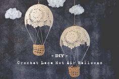台所にあるアレを使ってクロシェットレースを気球にします。レシピ付き!