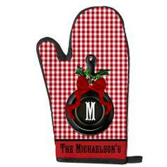 Country Christmas Iron Skillet Oven Mitt> Rustic Country Cast Iron Skillet> Holiday Hearts Trendy Home #countrychristmas #monogramchristmas #redandwhite #rusticchristmas #christmaspersonalizedgifts #cafepress