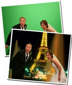 Clever idea for photo booth back drop