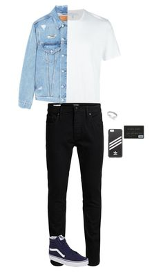 """""""Family Day~Minseok"""" by luna-from-dna ❤ liked on Polyvore featuring Neil Barrett, Jack & Jones, Vans, Idealmark, adidas and MANGO MAN"""