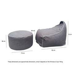 indoor beanbag ottoman
