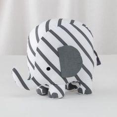 Patterned Plush Pachyderm (Stripe)  | The Land of Nod