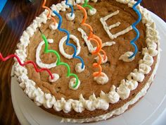 kids and my kitchen: Chocolate Chip Cookie Cake! Cake Cookies, Cupcake Cakes, Cupcakes, Sweet 16 Bonfire, Homemade Cookie Cakes, Chocolate Chip Cookie Cake, Sweet Tooth, Favorite Recipes, Sweets
