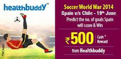 #Predict the no. of goals #Spain will score against #Chile on 19th June.  http://www.foreseegame.com/user/GamePlay.aspx?GameID=%2bdepBoNR1Z6AYRqR%2bMSvmQ%3d%3d