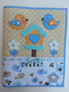 Capa para caderno removível em tecido e EVA <br>Faço outros temas Crafts To Sell, Diy And Crafts, Crafts For Kids, Baby Set, Foam Crafts, Scrapbook Paper Crafts, Applique Designs, Diy Cards, Baby Quilts