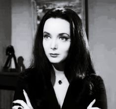 Halloween costumes that work best with black hair.....pictured: Morticia Addams of the Addams Family