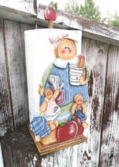 Gingerbread Painting Patterns | Gingerbread paper towel holder tole painted wood by countyroad9
