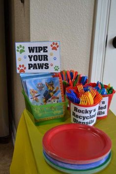 Paw Patrol Birthday Party Ideas Photo 14 of 24 Paw Patrol Party, Paw Patrol Gifts, Paw Patrol Birthday Theme, Paw Patrol Pinata, Paw Patrol Cake, Puppy Birthday Parties, Puppy Party, Birthday Party Themes, Birthday Ideas