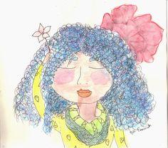 Ilustracão: Moça de Flor | A Filha Da Mãe