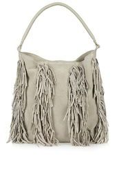 Suede Tassel Hobo Bag