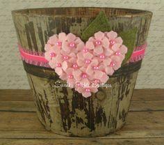 Feltro do coração - Pink Heart Headband-Wool Felt Flower headband - Hydrangea headband - Valentines Headband - Baby Headband - Plano Headband
