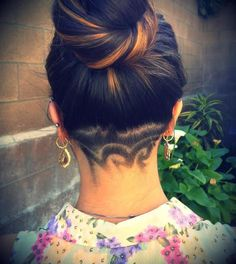 shaved back head design