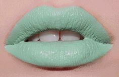 Mint To Be pastel mint green lipstick - Lime Crime Lime Crime Lipstick, Green Lipstick, Lipstick Colors, Lip Colors, Bright Lipstick, Lipstick Art, Neon Lips, Rainbow Lips, Rainbow Makeup