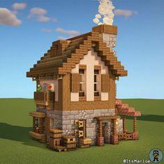 Minecraft House Plans, Minecraft Farm, Minecraft Mansion, Easy Minecraft Houses, Minecraft House Tutorials, Minecraft House Designs, Minecraft Construction, Amazing Minecraft, Minecraft Blueprints