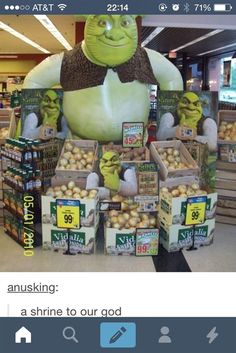 OMG Shrek is creepy<<< I believe you mean 'Shrek is love. Shrek is life. Shrek is Love. Shrek is life. Stupid Funny Memes, Funny Posts, Hilarious, Funny Stuff, Stupid Stuff, Funny Things, Random Stuff, Shrek Memes, Jokes