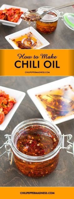 How to Make Chili Oil - this would make a great gift for the holidays.