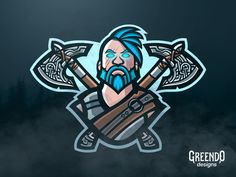 Fortnite Ragnarok Mascot Logo by Daniel Tsankov