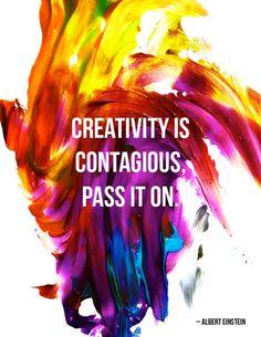 Love this!  Compartilhar, inspirar, criar