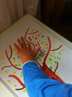 Herbstbäumchen Plastic Cutting Board, Trees, Fall, Handarbeit