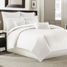Shop for Manor Hill Ellis Ivory 4 Piece Comforter Set. Get free shipping at Overstock.com - Your Online Fashion Bedding Outlet Store! Get 5% in rewards with Club O!