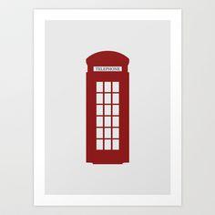 London Art Print by Chay Lazaro - $18.00