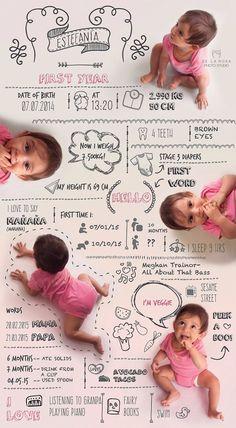 Etsy の Costum baby infographic by DelaRosaPhotoStudio