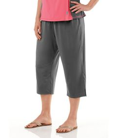 ccc072d73b6bb Take a look at this Charcoal Plus-Size Capri Pants by Live Life Large on
