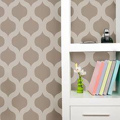 Trellis-stencil-wall-pattern