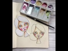 Paint Faces With Me Using Watercolor - YouTube