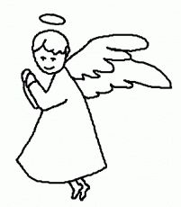 14 Pics Of Angel Halo Coloring Pages